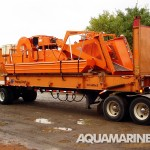 Aquamarine H5 205 Aquatic Harvester Ready for Transport