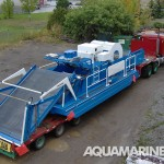 Aquamarine H10 800 Aquatic Harvester Ready for Transport
