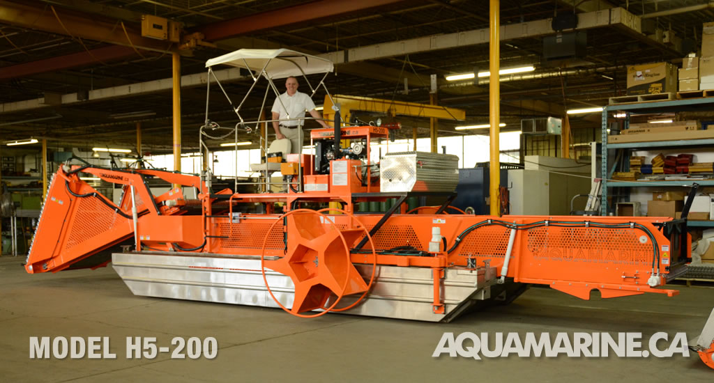 Aquamarine H5-200 Aquatic Weed Harvester
